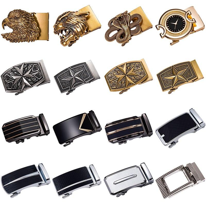 2019 New Fashion Men's Business Alloy Automatic Buckle Unique Men Plaque Belt Buckles For 3.5cm Ratchet Men Apparel Accessories