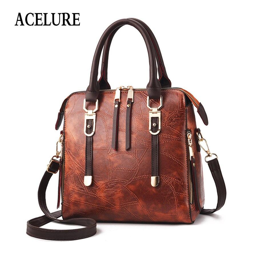 ACELURE Business Style Handbags For Women Solid Color Shoulder Bag For Women Soft Pu Leather Female Crossboy Bag Bolsa Feminina