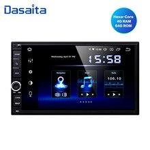 """Dasaita 7 """"IPS 스크린 안드로이드 10.0 유니버설 2 딘 네비게이션 라디오 닛산 자동차 멀티미디어 비디오 1080P 도요타 GPS 용"""