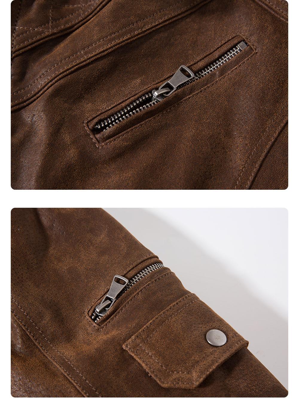 Hf30872ed6e0f4bdbaac9c386b8f70453N Men's Pigskin Real Leather Jacket Genuine Leather Jackets Motorcycle Jacket Coat Men