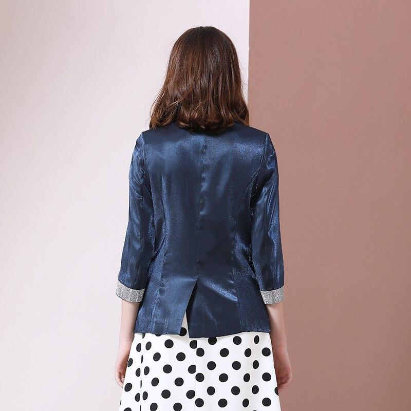 2019 New Autumn Boutique Women's Small Suit Coat Dating Commuter Bright Diamond Suit Jacket Female Office Lady