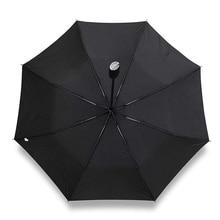 שחור שמשייה מטריית רכב מתנות חברה Windproof גברים של גשם ושמש שלוש מתקפל אוטומטי גדול זכר מטריות