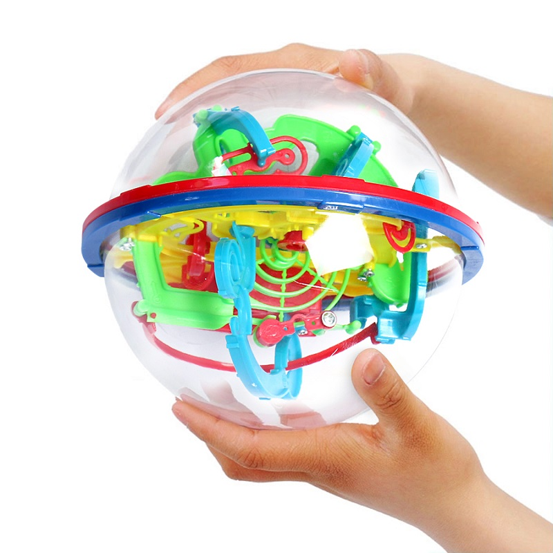 100 Step 3D Puzzle Ball Magic Intellect Ball Labyrinth Sphere Globe Toy 3D Jigsaw Intelligence Ball Magic Globe Puzzle Kids Gift