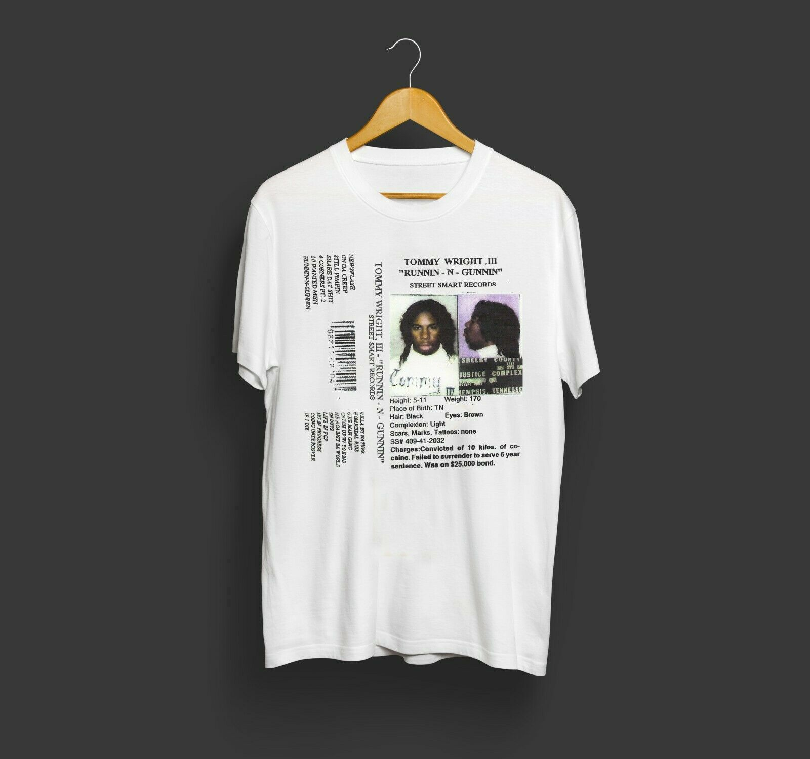 Retro Tommy Wright Iii - Runnin N Gunnin Vintage Tshirt Size S S-3Xl