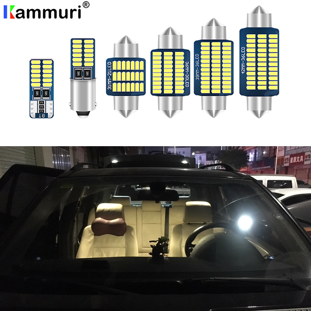 7X free shipping Error Free Car LED <font><b>Interior</b></font> Light Kit Package <font><b>for</b></font> <font><b>Peugeot</b></font> <font><b>407</b></font> <font><b>accessories</b></font> 2004-2010 image