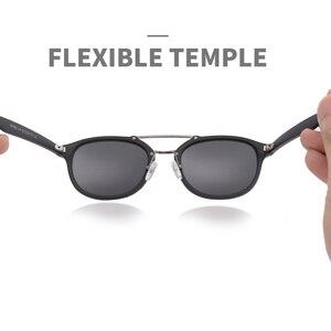 Image 3 - Aofly Merk Designer Klassieke Gepolariseerde Zonnebril Mannen Vrouwen Ultralight TR90 Frame Ronde Zonnebril Voor Mannelijke Gafas Oculos De Sol