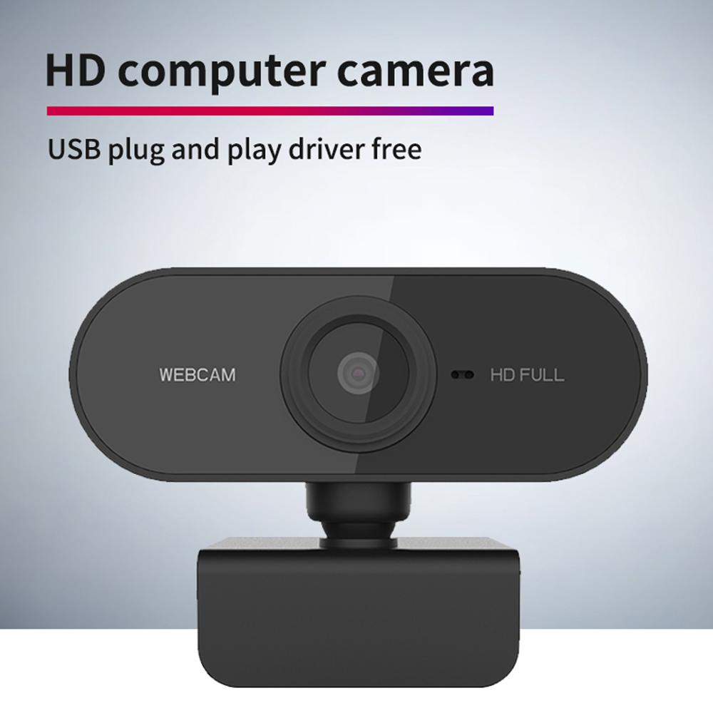 Newest Webcam 1080P HDWeb Camera with Built-in HD Microphone 1920 x 1080p USB Plug n Play Web Cam 2.0M pixels Widescreen Video(China)