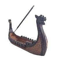 Dragão barco incenso vara titular queimador esculpida à mão cinzelando incenso ornamentos retro queimadores de incenso design tradicional