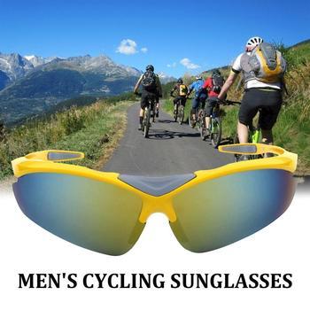 Męskie okulary przeciwsłoneczne okulary rowerowe okulary rowerowe okulary przeciwsłoneczne okulary sportowe PC okulary tanie i dobre opinie CN (pochodzenie)