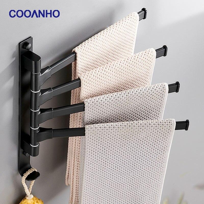Поворотная вешалка для полотенец COOANHO на 2/3/4 руки 1