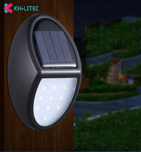 цены Solar Lights Outdoor 10 LED Solar Powered Lamp Waterproof Security Solar Motion Sensor Lights Wall Mount Light For Garden Patio