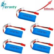 מקורי 7.4V 450mAh 20C Lipo סוללה עבור WLtoys K969 K979 K989 K999 P929 P939 RC רכב חלקי 2s 7.4v סוללה 5 pcs/lots