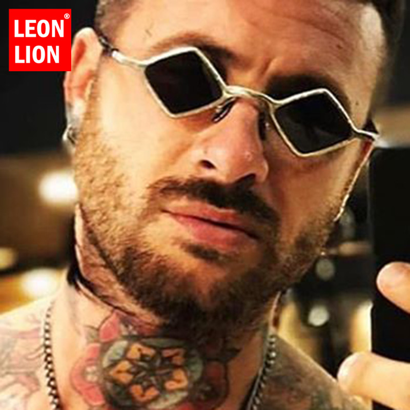 LeonLion 2019 Small Retro Sunglasses Men Vintage Glasses for Men/Women High Quality Sunglasses Men Designer Lunette Soleil Homme|Men