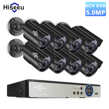 Hiseeu 5MP Security Camera System 8CH AHD DVR Kit 4/8PCS 5.0MP HD Indoor Outdoor CCTV Camera P2P Video Surveillance System Set