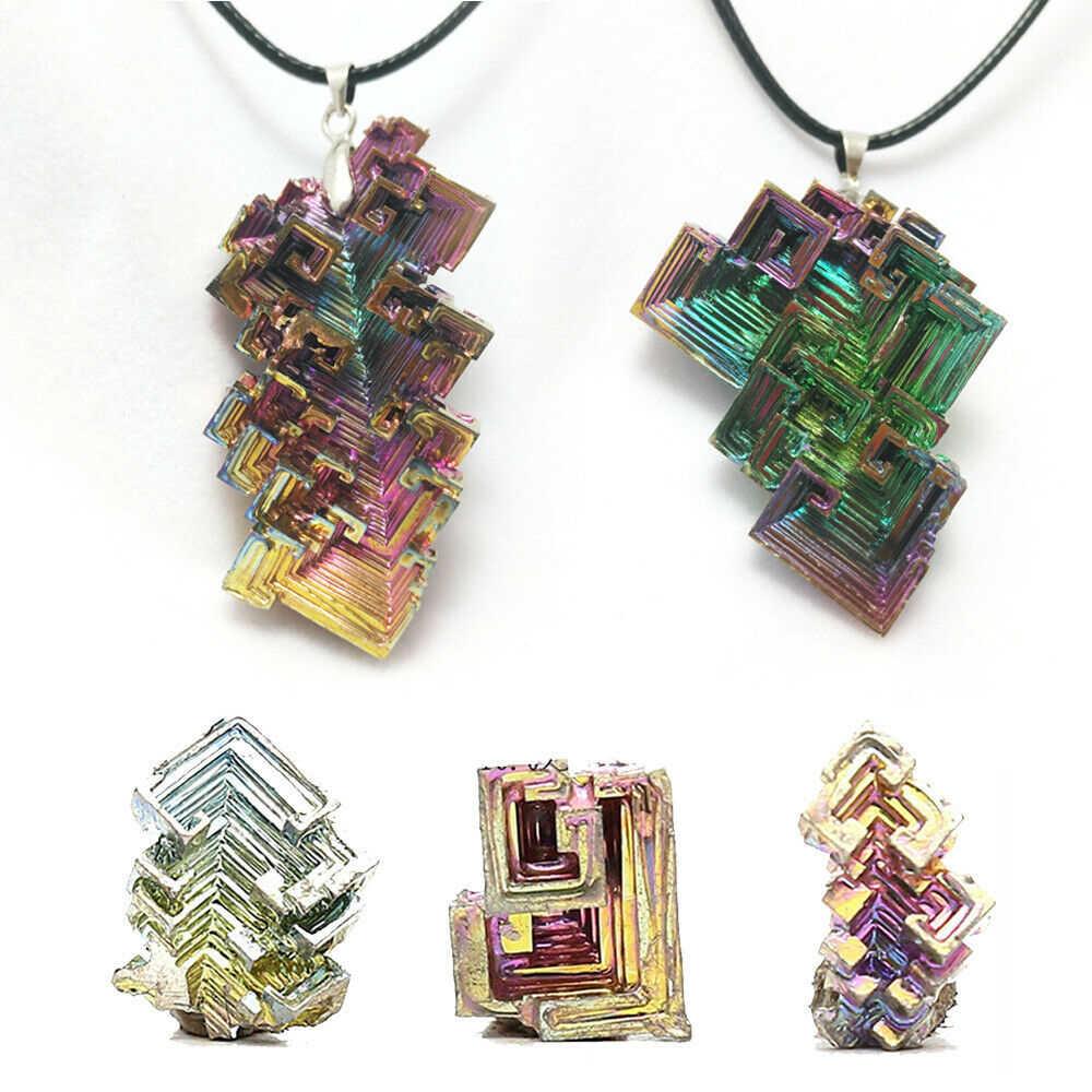 Raro precioso titanio Arco Iris, espécimen de bismuto, Gema Mineral de cristal para decoración del hogar, piedras artesanales 10/20G