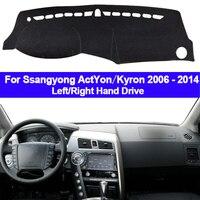 El tablero de instrumentos del coche cubierta salpicadero alfombra para Ssangyong ActYon Kyron 2006 2014 Dash Mat 2 capas cabo sombrilla 2013  2012 2011  2010 Almohadilla antisuciedad de coche     -