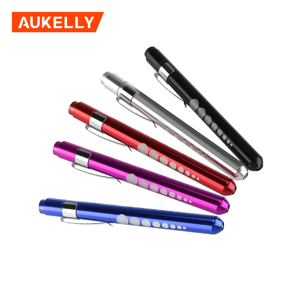 Aukelly Mini Flashlight Lanterna Powerful Penlight Medical LED Torch Handy Pen Light  AAA Battery  For Doctor Nurse Diagnostic