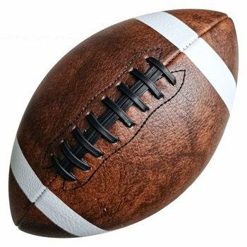 Yüksek kaliteli standart boyut 9 amerikan futbolu Rugby Retro dekorasyon hediyeler için kullanılan eğitim oyunları yetişkin çocuk