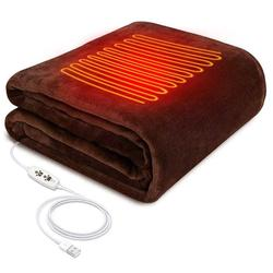 36V USB Heating Shawl Electric Heating Shawl Carbon Fiber Washable 3 Heat Settings Mat With Timing Function Heated Blanket