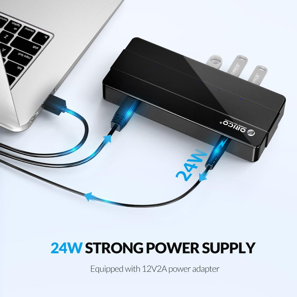 New USB3.0 4 Ports HUB with Fast Charger Adapter Smart HUB For Laptop Desktop