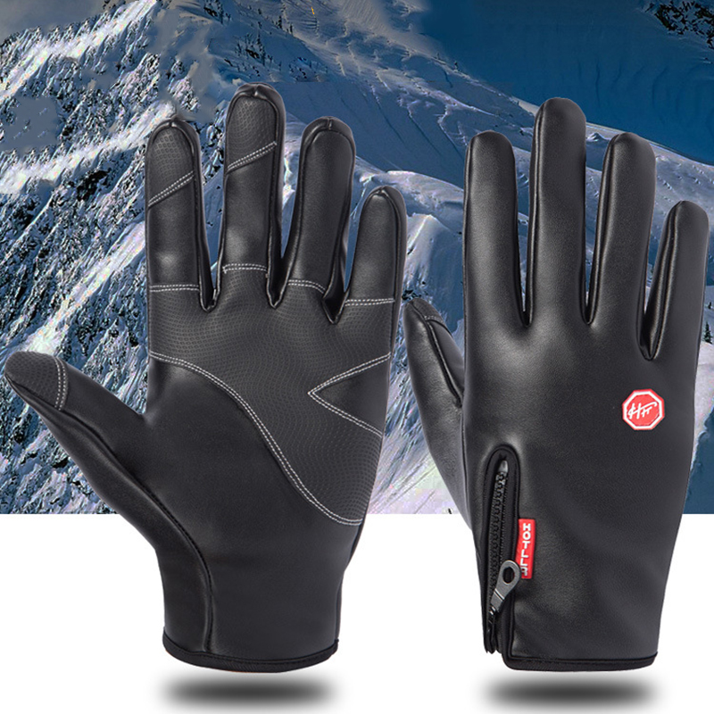 Black XL Grebest Heating Gloves Winter Equipment Gloves Electric Heated Winter Outdoor Waterproof Warm Touch Screen Full Finger Gloves