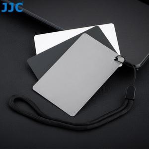 Image 2 - JJC 3in1 Set di carte per bilanciamento del bianco 18% calibrazione della fotografia di carte grigie per Canon Nikon Sony Fuji Pentax DSLR accessori per fotocamere