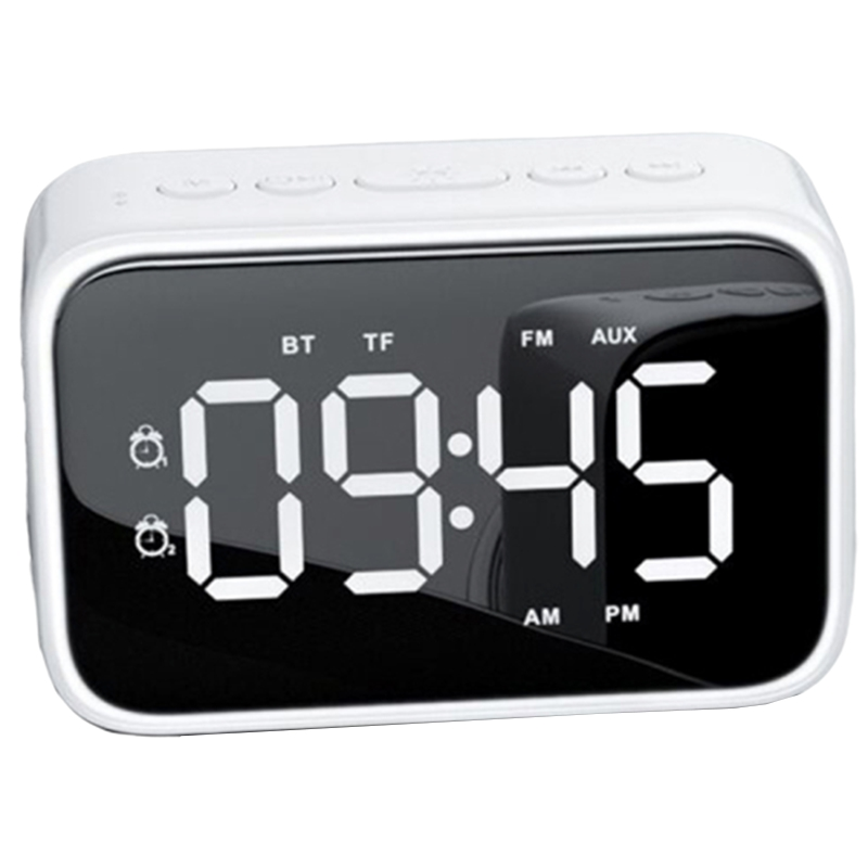 Digital Alarm Clock Radio with FM Radio, Bluetooth Speakers with Headphone Jack, Dual Alarms, 5 Level Brightness Dimmer