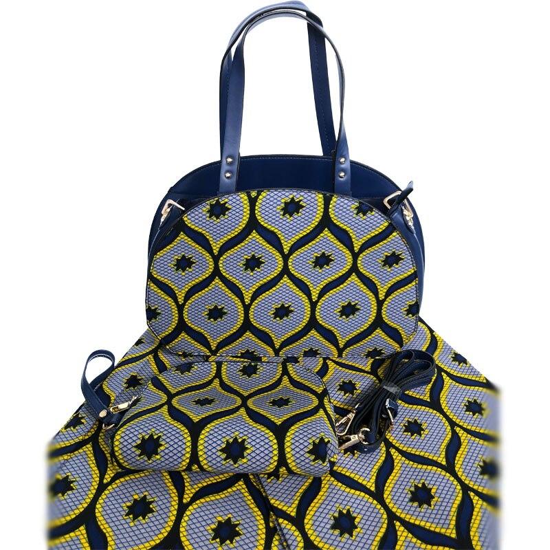 أحدث تصميم امرأة حقيبة و القطن النسيج مجموعة عالية الجودة الأفريقي يد و الشمع النسيج مطابقة مجموعة للحزب الاستخدام-في حقائب قصيرة من حقائب وأمتعة على  مجموعة 1