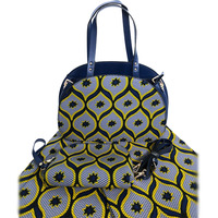 Newest Design Woman Bag And Cotton Fabric Set High Quality African Handbag And Wax Fabric Matching Set For Party Usage