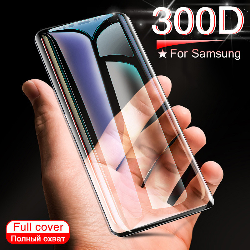 300D Full Curved Tempered Glass On The For Samsung Galaxy Note 8 9 S9 S7 S6 Edge Plus S8 S9 Plus Screen Protective Glass Film