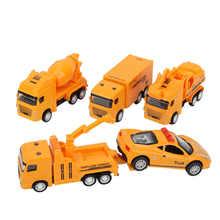 Puxar para trás o brinquedo do automóvel liga fricção conduzido por fundição puxar para trás brinquedo conjunto do veículo conjunto de jogos para