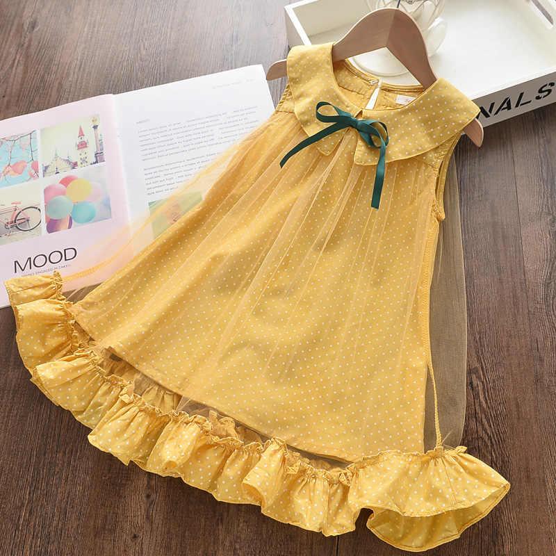 Menoea Kinder Casual Kleid 2020 Sommer Mädchen Fliegen Sleeve Rosa Kleidung Party Kleid Kinder mädchen Prinzessin Kleid 2-7Y