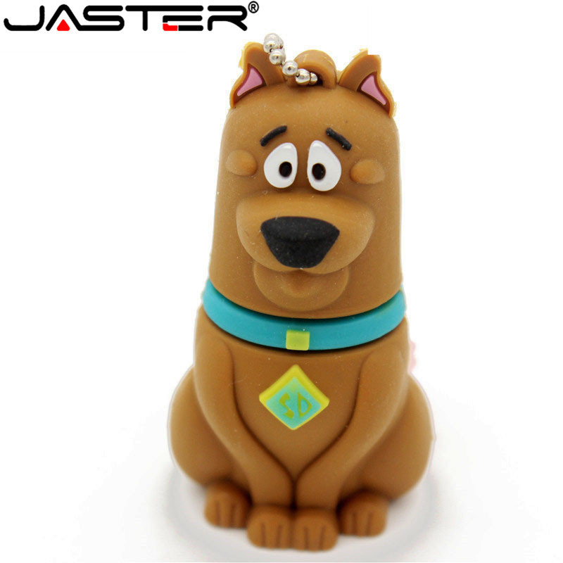 JASTER New Arrival Mini Cartoon Dog USB FLASH DRIVE 4GB 8GB 16GB 32GB  64GB Memory Stick Gift Real Capacity Free Shipping