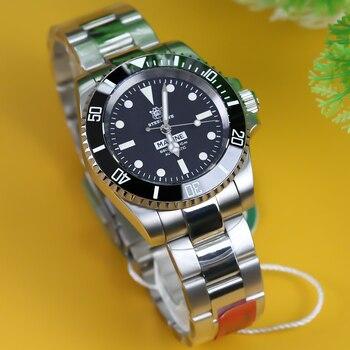 Reloj de buceo automático STEELDIVE 1954, reloj de buceo NH35 resistente al agua de 200m, relojes mecánicos para hombre, reloj de buceo de acero 316L para hombre