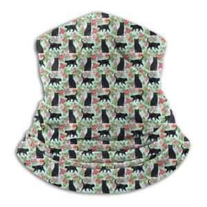 Мужские и женские многофункциональные дышащие Цветочные черные летние гетры с кошачьим горлом-работает как маска для лица, головной убор, ш...