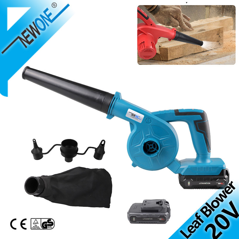 Cordless 20V Electric Air Blower Dust Blowing Dust Mini Computer Dust Collector Garden Vacuum Cleaner Rechargeable Air Blower