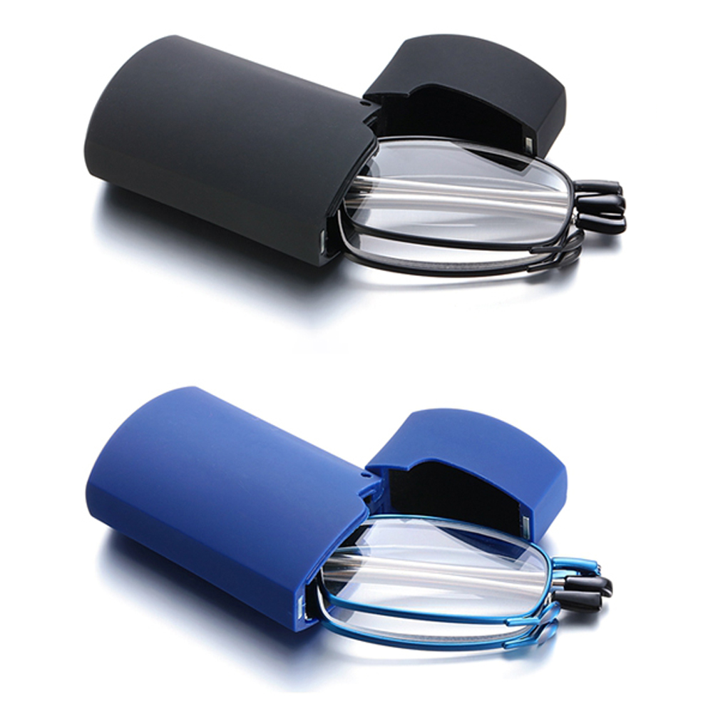 2021 складные очки для чтения с Чехол Для мужчин Для женщин Для мужчин телескопическая ротация пресбиопии синий светильник блокировка очки + 1...