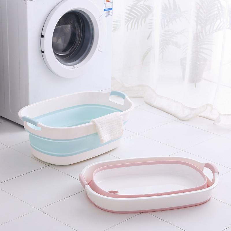 Folding baby bath bucket large capacity baby bath basin portable multifunctional washing basin household foot basin