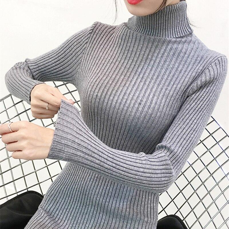 Fashion Autumn Sweater Dress Turtleneck Elegant Women Knit Dresses Korean Woman Long Sleeve Sweater Dresses Women Bodycon Dress 1