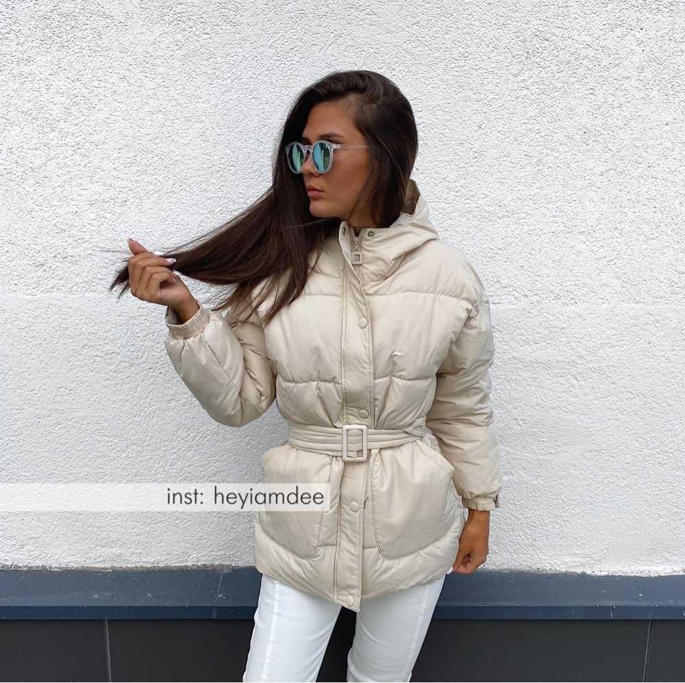 Women Parkas Hooded Zipper Winter Jacket Coat Women Thick Korean Fashion Sashes Jacket White Black Red Beige|Parkas| - AliExpress