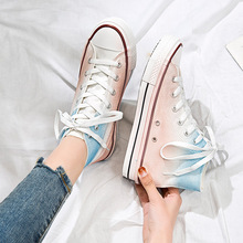 2020 Women sneakers new arrivals fashion lace-up High Top women shoes solid sewi