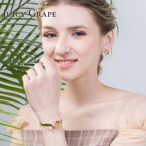 Image 5 - Juicy Grape Enamel Glaze chic bracelet female personality cold wind style bracelet adjustable girls gifts