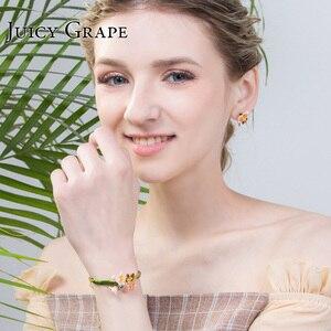 Image 5 - Soczysta emalia winogronowa Glaze chic bransoletka kobieca osobowość chłodne pozbawiające tchu styl bransoletka regulowane dziewczyny prezenty