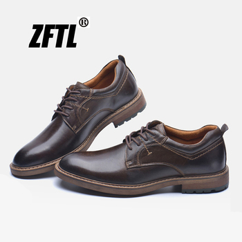 ZFTL NEW men's casual shoes Man genuine leather business shoes lace up oxford Large size dress shoes men's formal shoes  0176