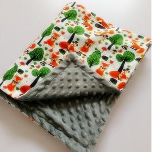 Image 2 - Bebek battaniyesi bere battaniye bahar bebek baskı tilki flanel mercan battaniye battaniye klima battaniye çocuklar için 75*120CM