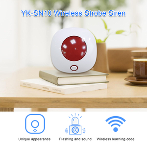 Image 2 - Indoor Horn Siren 433MHz Wireless Flashing Strobe Siren Light Siren for WIFI GSM Home Alarm Security System Red Color
