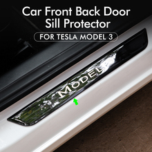 Model3 Door Sill Decoration Wrap Cover For Tesla Model 3 Accessories Pedal Protection