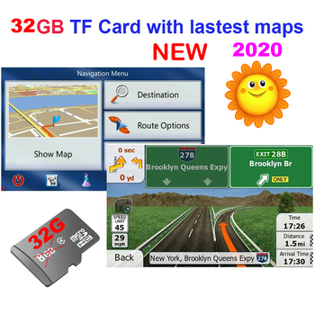 32G gps maps TF/SD card latest Map for WinCE/Android car gps navigation map Europe/Russia/Belarus/USA/CA/AU/Israel Car gps maps image