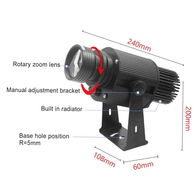 Динамический проектор Gobo мощностью 35 Вт, наружный дисплей с высоким разрешением и логотипом вращающийся рекламный щит