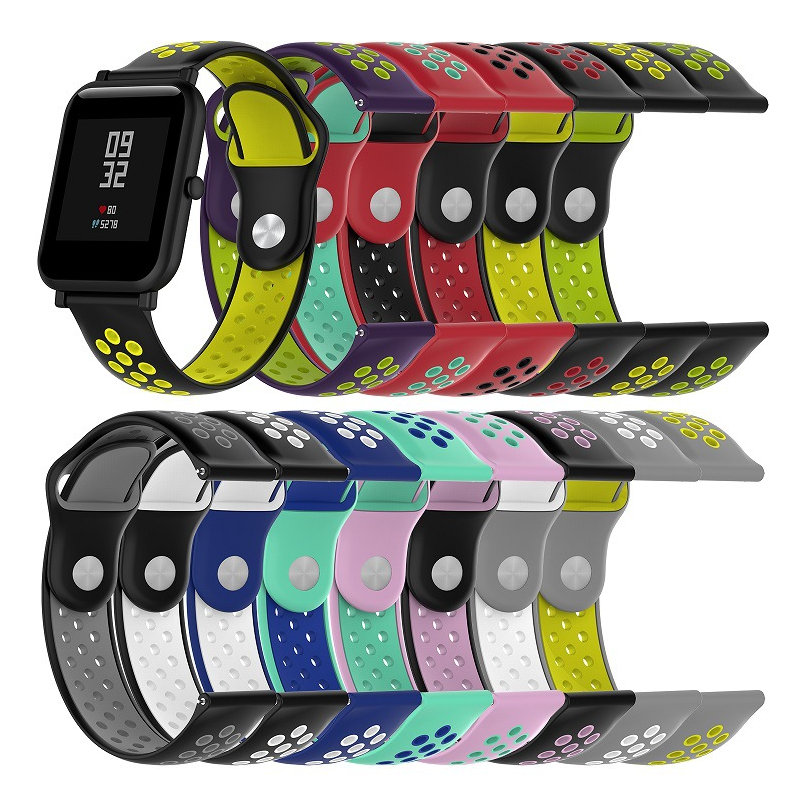 <font><b>20mm</b></font> 22mm <font><b>Silicone</b></font> <font><b>Band</b></font> Strap for Amazfit Bip for Garmin vivomove HR/Samsung Gear Sport S2/Ticwatch 2/For Huawei Watch <font><b>bracelet</b></font> image